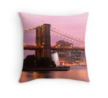 Early Evening in New York Throw Pillow