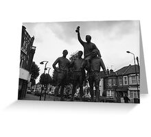 West Ham world cup winners' statue Greeting Card