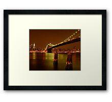 Pilings In East River New York Framed Print