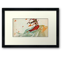 shoe boat Framed Print
