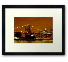 Fiery New York City Framed Print