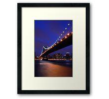 Blue Sky New York Framed Print