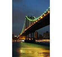 Subtle Night Sky Over New York Photographic Print