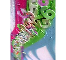 letters & numbers Photographic Print