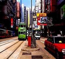 Trams in Hong Kong by escaperabbits