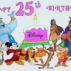 Happy 25th Birthday Disney by Celinda