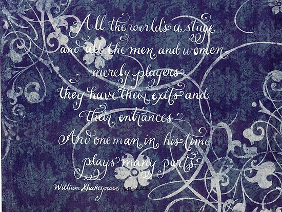 Shakespeare quote calligraphy art by Melissa Goza
