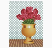 Bouquet of tulips in vase Kids Clothes