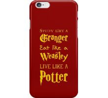 Live Like a Potter iPhone Case/Skin