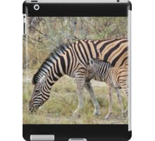 Zebra - African Wildlife - Paired up for Life iPad Case/Skin