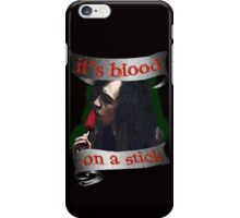 It's Blood... On A Stick / Adam [Transparent] iPhone Case/Skin