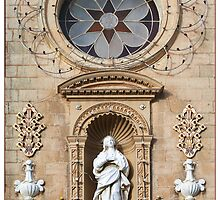 Balzan Church Facade Detail by Astrid Pardew