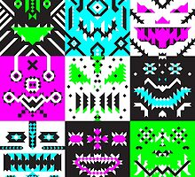 square monster pattern punk by cavia