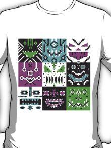 square monster pattern punk T-Shirt