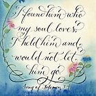 Romantic I found him verse Song of Solomon handwritten art design by Melissa Goza