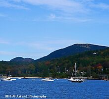 Maine - Boats and Cadillac Mountain by jezebel521