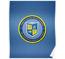 the crest of video game high school  Poster