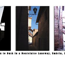 Montefalco Series #04 – A set of old stairs through changing light of morning, noon and dusk by Keith Richardson