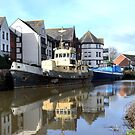 Reflections at Exeter Quays,Devon UK by lynn carter