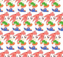 Amy Rose The Hedgehog Repeating by TweedleDeem