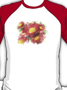 Chrysanthemum Watercolor Art T-Shirt