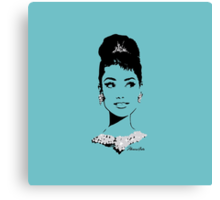 Audrey in Tiffany Blue Canvas Print