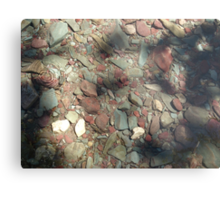 COOL WATER DIMPLE Metal Print