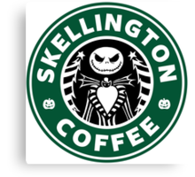 Skellington Coffee Canvas Print