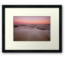 Bar Beach at Dusk Framed Print