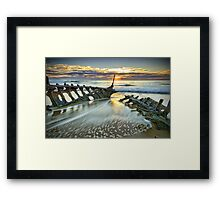 Wreck Sunrise  Framed Print