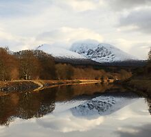 Ben Nevis and the Caledonian Canal. by John Cameron
