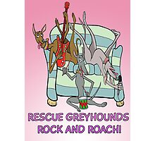Rescue Greyhound's rock and roach! Photographic Print