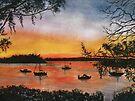 Sunset at Shoal Bay, Australia by © Linda Callaghan