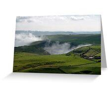 Low Lying Cloud in Winnats Pass Greeting Card