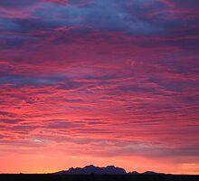 Kata Tjuta and the Pink Sunset Brigade by Keiran Lusk
