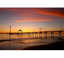 Brighton Jetty Sunset,  South Australia  Photographic Print