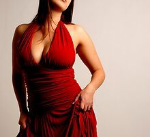 Lady in red by PeteG