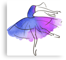 ballerina figure, watercolor Metal Print