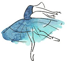 ballerina figure, watercolor by OlgaBerlet