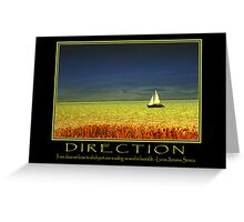 Direction  Greeting Card
