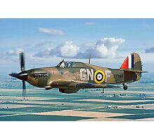 Hurricane IIc LF363 over the Fens Photographic Print