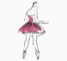 sketch of girl's ballerina  Kids Clothes