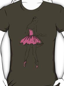 sketch of girl's ballerina  T-Shirt