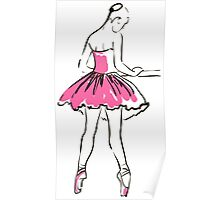 sketch of girl's ballerina  Poster