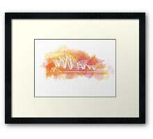 Sydney Opera House - Single Line Framed Print