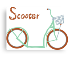 Illustration of vintage vector scooter Canvas Print