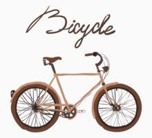 illustration of  vintage bicycle by OlgaBerlet