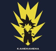 son goku  kamehameha white  by kennypepermans