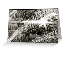 """Cadillac rain"" Greeting Card"