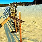 Leading fence line in winter wonderland | landscape photography by Patrick Jobst